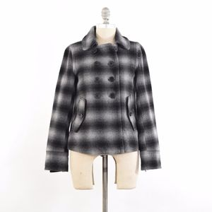 NO OFFERS! Gap Plaid Flannel Peacoat